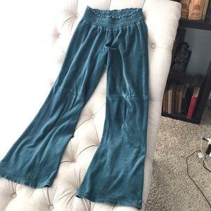 Juicy Couture Teal Velvet Sweat Pants Size M
